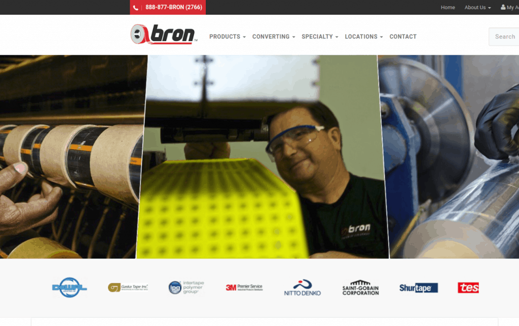 Bron-Tapes   Website Design Company   Ecommerce Website Design Company
