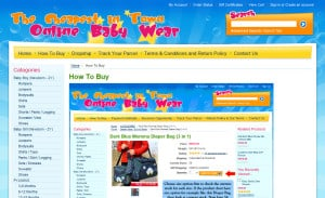 Online Baby Wear Ecommerce Site Design: How to Buy Page