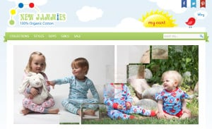 Opencart Web Design ForNew Jammies: Home Page