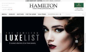Ecommerce Web Design for Hamilton Jewelers: Home Page